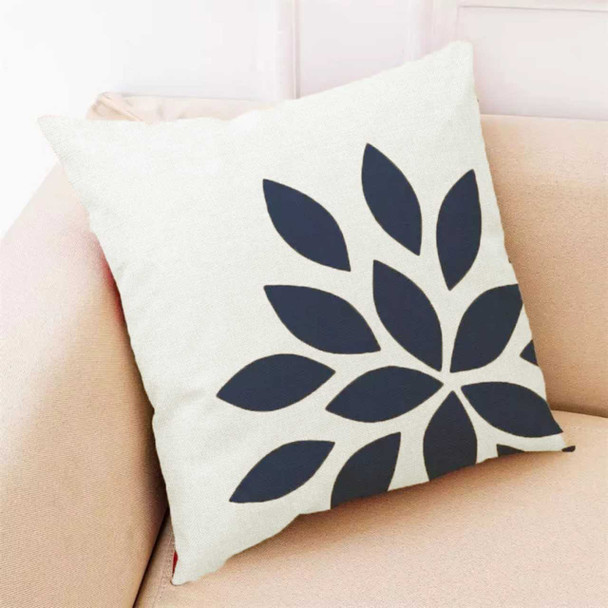 """18""""x18""""  White Side Cut Out Petals Canvass Throw Pillow Case"""