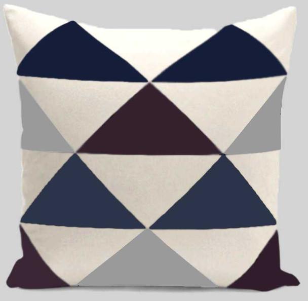 """18""""x18"""" Triangular Print  Canvass Throw Pillow Case"""