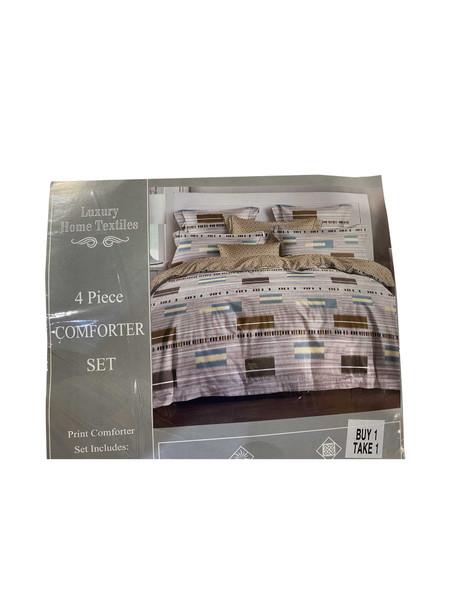"Buy 1 Take 1 Luxury Home Textiles 4 Piece Comforter Set Assorted Design 80""x86"" Full"