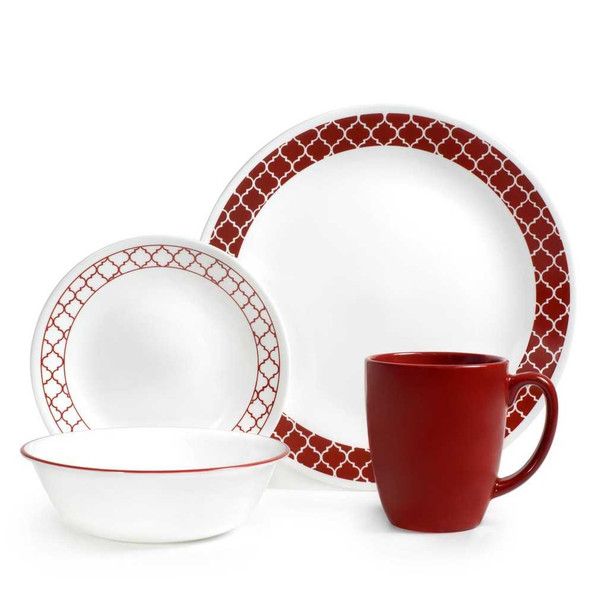 Corelle 1123685 16pc. Dinnerware set - Crimson Trellis