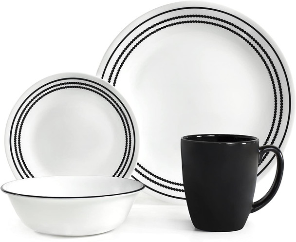 Corelle 16-OXB-PH 16pc. Dinnerware set - Onyx Black