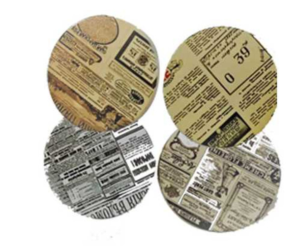 Ceramic Tea/Mug Coaster- News Paper Design