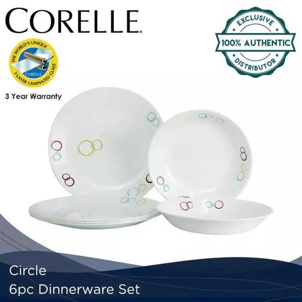 Corelle 6DS-CIR-PH 6pc. Dinnerware set -Circles