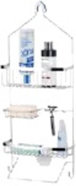 3 LAYER SHOWER CADDY W/ WHITE POWDER COAT