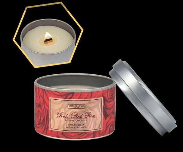 Carroll and Chan Tin Candle  Red Red Rose
