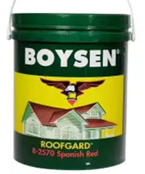 BOYSEN BS 2570 ROOF PAINT SPANISH RED 4L
