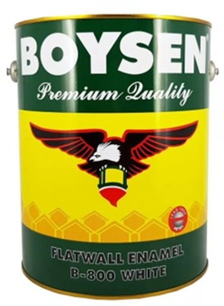 BOYSEN BS 800 FLATWALL ENAMEL WHITE 1L
