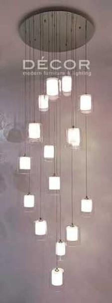 DECOR CELLINI GLASS DROPLIGHT BY 16 30X150CM