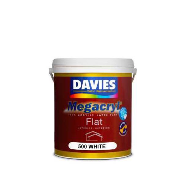 DAVIES DV-500-4 MEGACRYL FLAT LATEX WHITE 4L