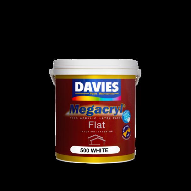 DAVIES DV-500-1 MEGACRYL FLAT LATEX WHITE 1L