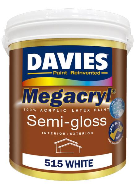 DAVIES DV-515-16 MEGACRYL LATEX SEMI GLOSS WHITE 16L