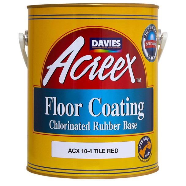 DAVIES ACX 10-4 ACREEX FLOOR COATING SHEEN T RED 4L