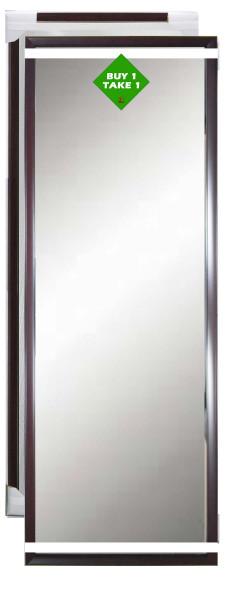 Buy 1 Take 1 Bundle Mirror 12x48 Dark Bown