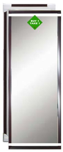 Buy 1 Take 1 Bundle Mirror 12x36 Dark Brown