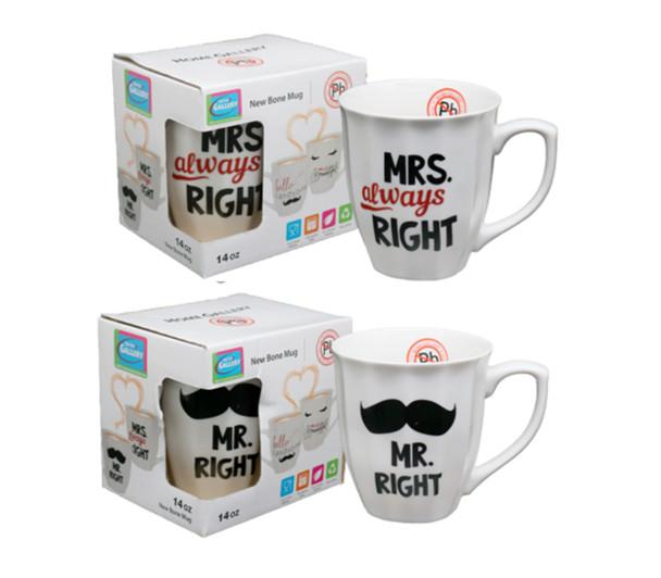 CM14-262C Home Gallery 14oz New bone Mug -Mr. and Mrs.