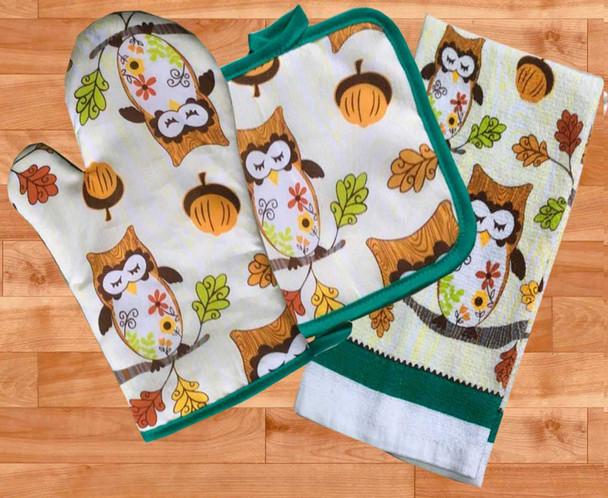 Casabella Kitchen Ensembles Owl Set of 3