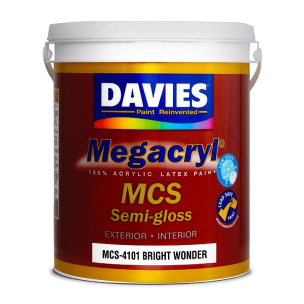 DAVIES MCS-4101 MEGACRYL LATEX SEMI GLOSS BRIGHT WONDER 4L