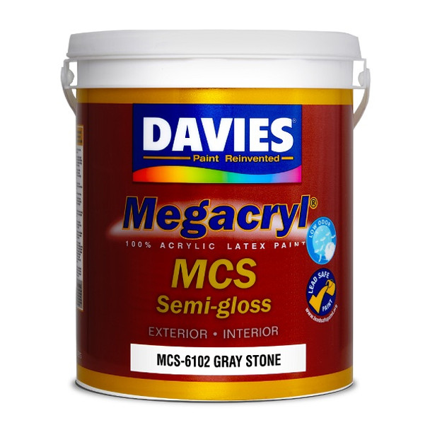 DAVIES MCS-6102 MEGACRYL LATEX SEMI GLOSS GRAY STONE 4L