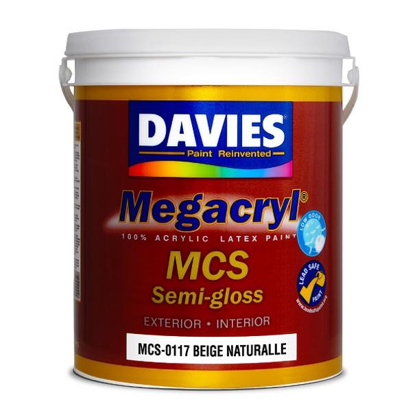 DAVIES MCS-0117 MEGACRYL LATEX SEMI GLOSS BEIGE NATURALLE 4L