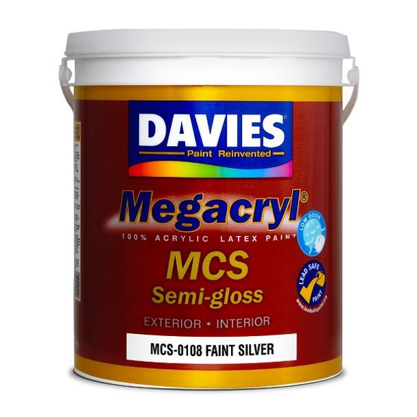 DAVIES MCS-0108 MEGACRYL LATEX SEMI GLOSS FAINT SILVER 4L