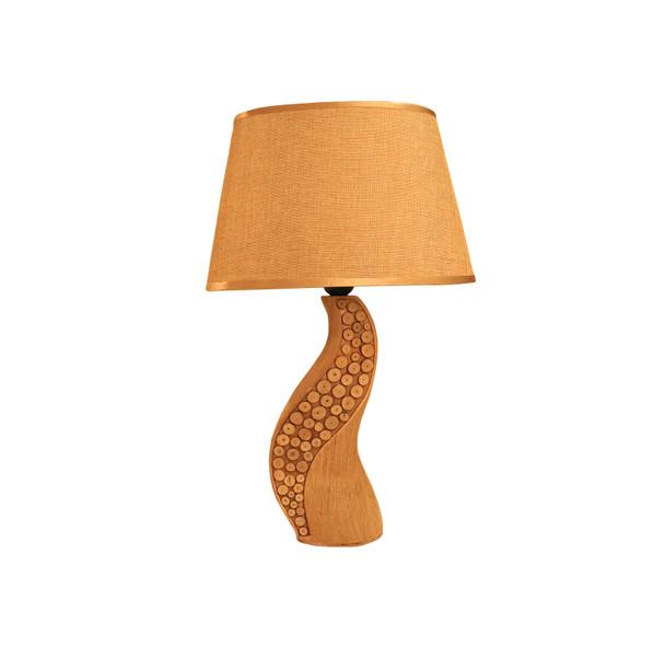 LEUCHTE TABLE LAMP CERA PEBBLED