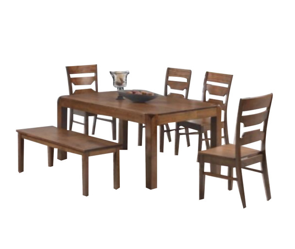 Abbey 4 Chair + 1 Bench Dining Set