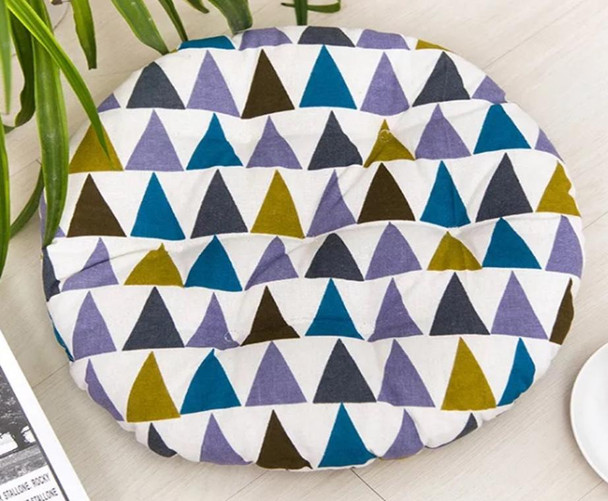 """16""""X16"""" PARTY MULTI COLOR ROUND CHAIRPAD"""