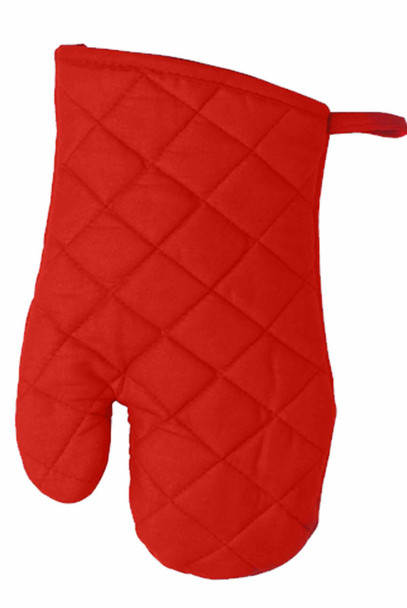 """CASABELLA 10.5""""X6.75"""" SOLID RED OVEN MITTEN"""