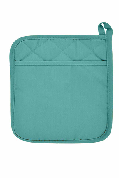 "CASABELLA  6.75""x6.75"" SOLID M.BLUE-1 POT HOLDER"