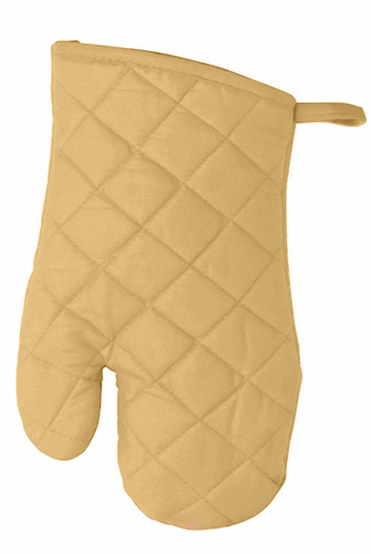 """CASABELLA 10.5""""x6.75"""" SOLID TAUPE OVEN MITTEN"""
