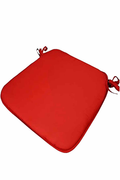 """CASABELLA 13.8""""x16"""" SOLID RED CHAIRPAD"""