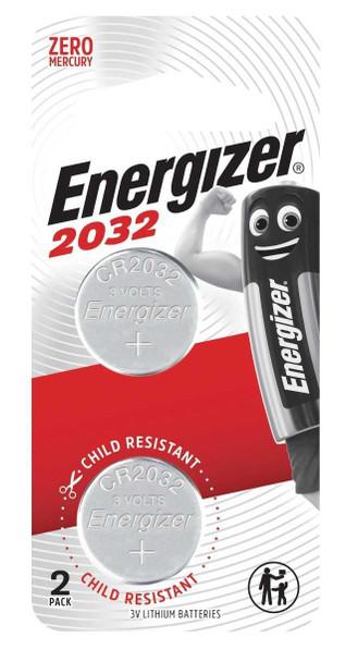 ENERGIZER CR2032BP2 LITHIUM COIN BATTERY 3V