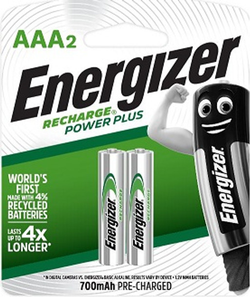 ENERGIZER NH12URP2 POWER PLUS RECHARGEABLE BATTERY AAA 2S