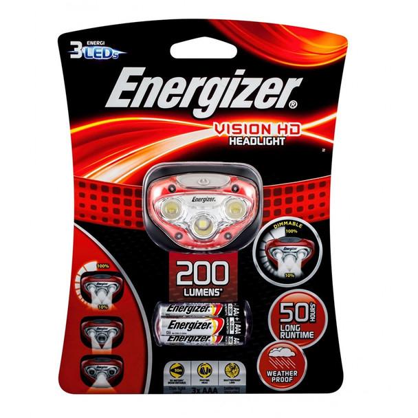 ENERGIZER HDB32 VISION HEADLIGHT 200 LUMENS WEATHERPROOF