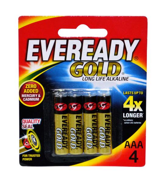 EVEREADY A92BP4 GOLD ALKALINE BATTERY AAA 4S