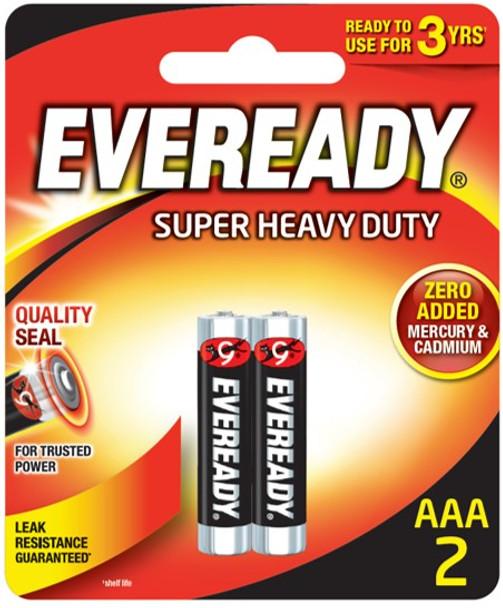 EVEREADY 1212BP2 SUPER HEAVY DUTY CARBON ZINC AAA 2S
