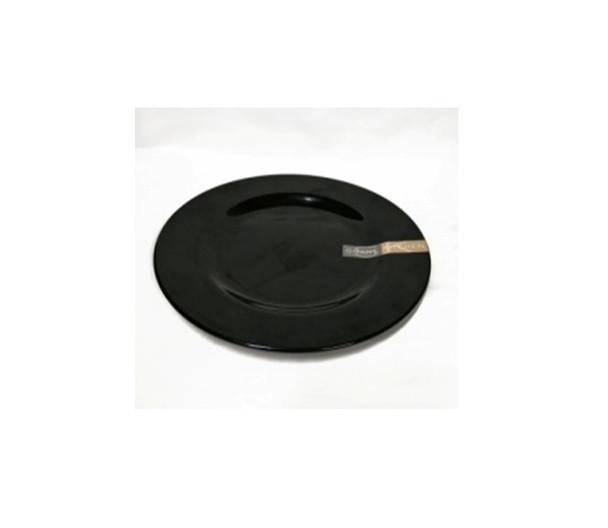 """Black 8"""" Dinner Plate Melamine"""