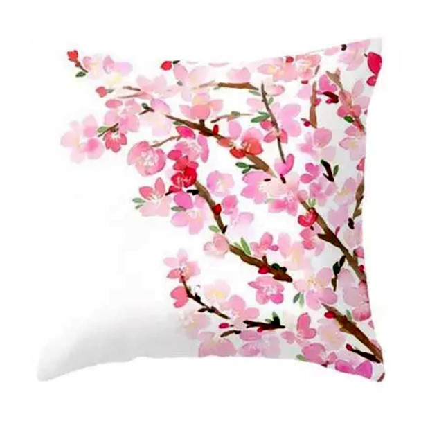 "18""x18""Cherry Blossom Flower  Suede Throw Pillow Case"