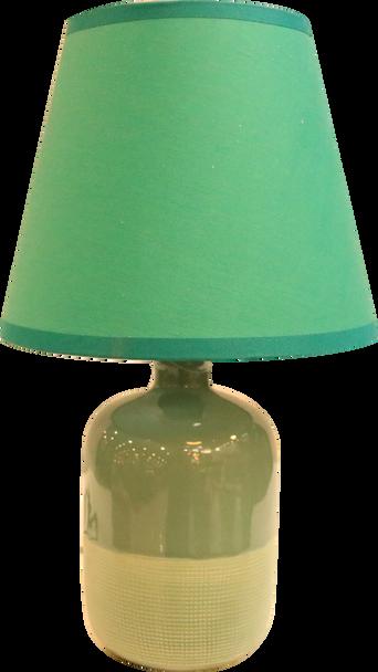 TABLE LAMP CERA 2 TONE GRN