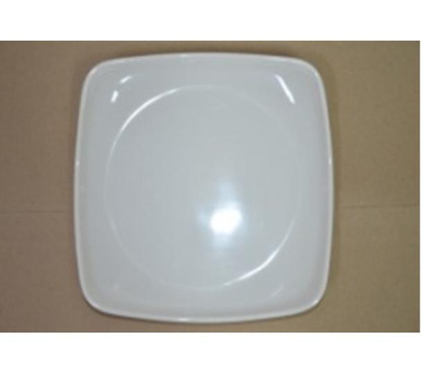 """DINNER PLATE UK MELA WHITE SQUARE 9.5"""""""