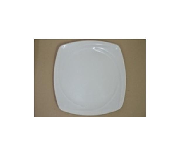 """DINNER PLATE UK MELA WHITE SQUARE 9"""""""
