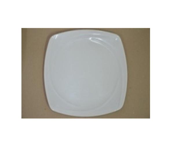 """DINNER PLATE UK MELA WHITE SQUARE 10"""""""