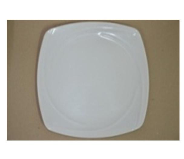 """DINNER PLATE UK MELA WHITE SQUARE 11"""""""