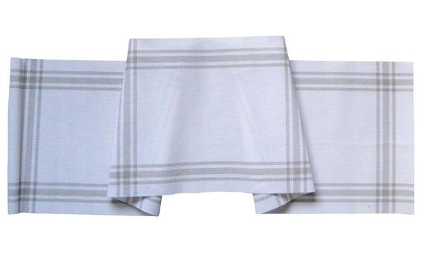 30X135CM WHITE NIARRA PVC TABLE RUNNER