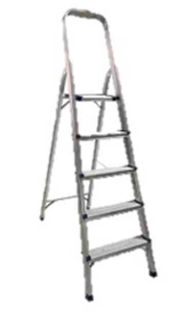 SURESTEP ALUMINUM 5-STEP LADDER W/ HANDRAIL