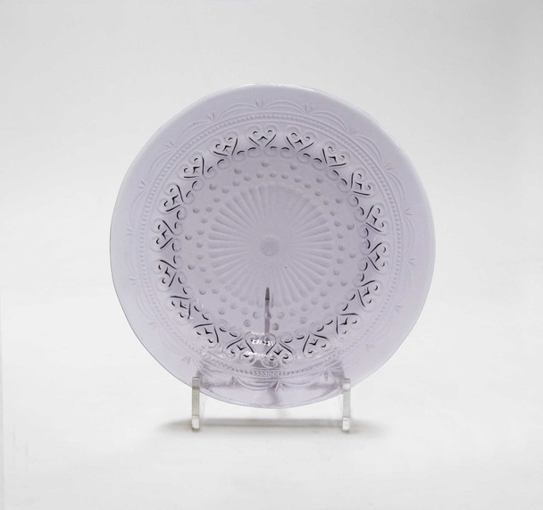 8.5IN ROUND PLATE AMETHYST
