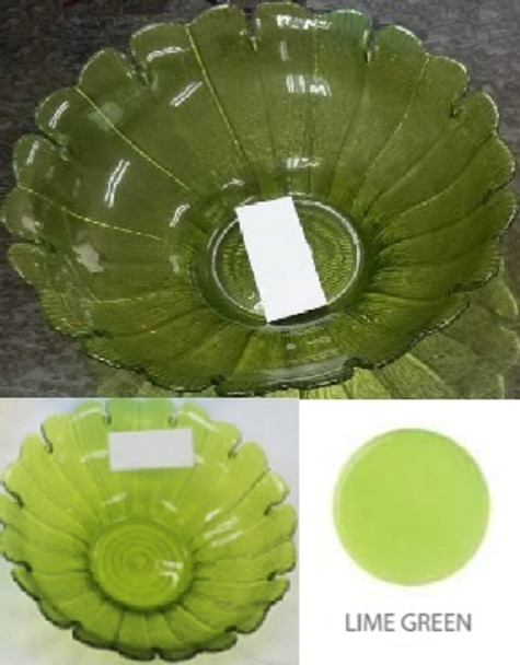 13IN ROUND DAISY BOWL LIME GREEN
