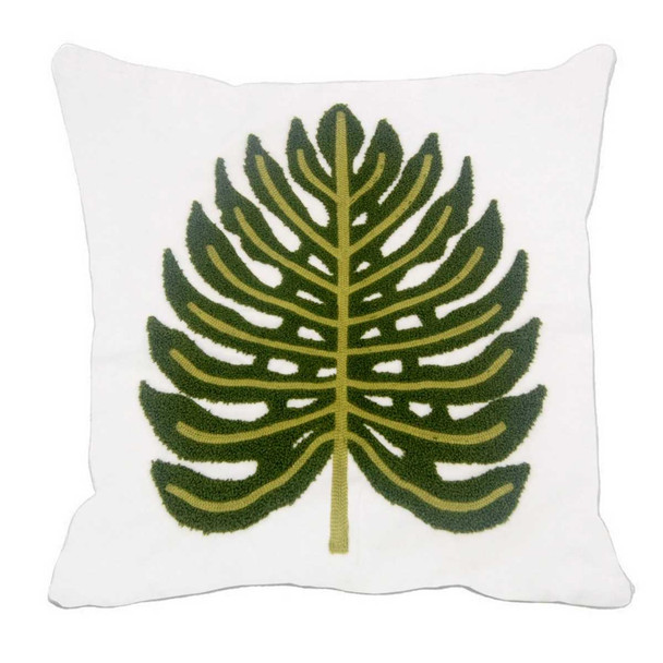 "17""X17"" GREEN EMBOSSED CANVASS 2TONE THROW PILLOW CASE"