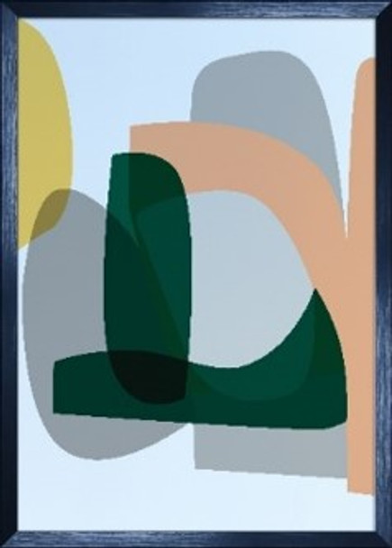 Canvass with Frame Abstract Forms 20X28