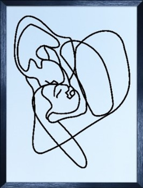 Canvass with Frame Continuous Line 20X28 SPGY057-BK-01